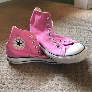 Women's pink high top converse!